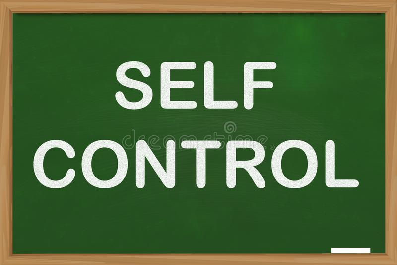 Autocontrollo, concetto motivazionale di citazioni di parole royalty illustrazione gratis