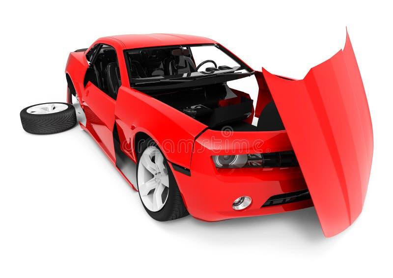 Autodelen, autoassemblage vector illustratie