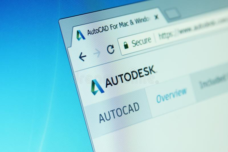 Autodesk autocad website royalty-vrije stock foto's