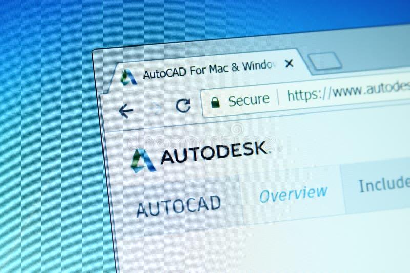 Autodesk autocad website stock afbeelding