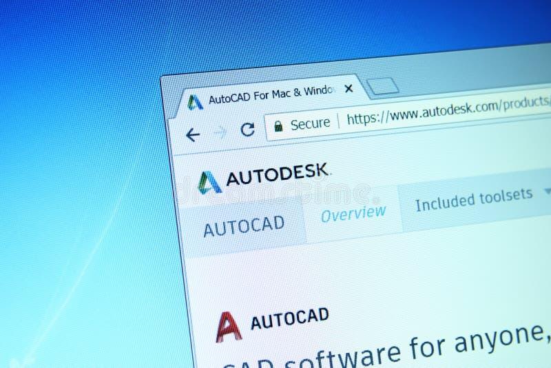 Autodesk autocad website stock fotografie
