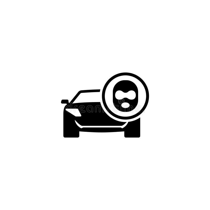 Autodief Flat Vector Icon vector illustratie