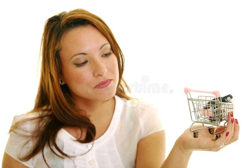 Autoeinkaufen lizenzfreie stockbilder