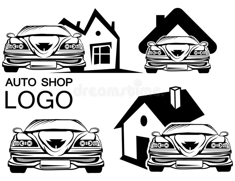 Autoembleem stock illustratie