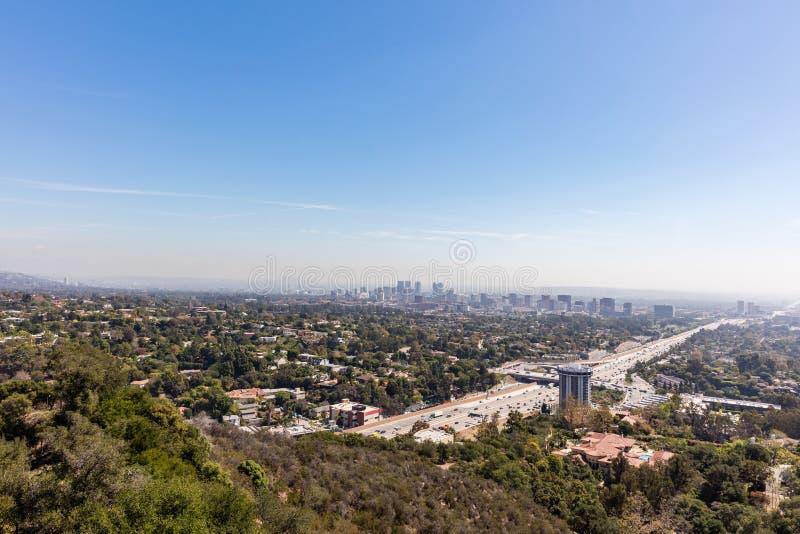 Autoestrada de Hollywood em Los Angeles, Califórnia fotografia de stock royalty free