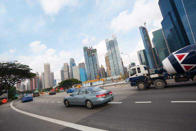 Autoestrada de Singapura fotos de stock royalty free