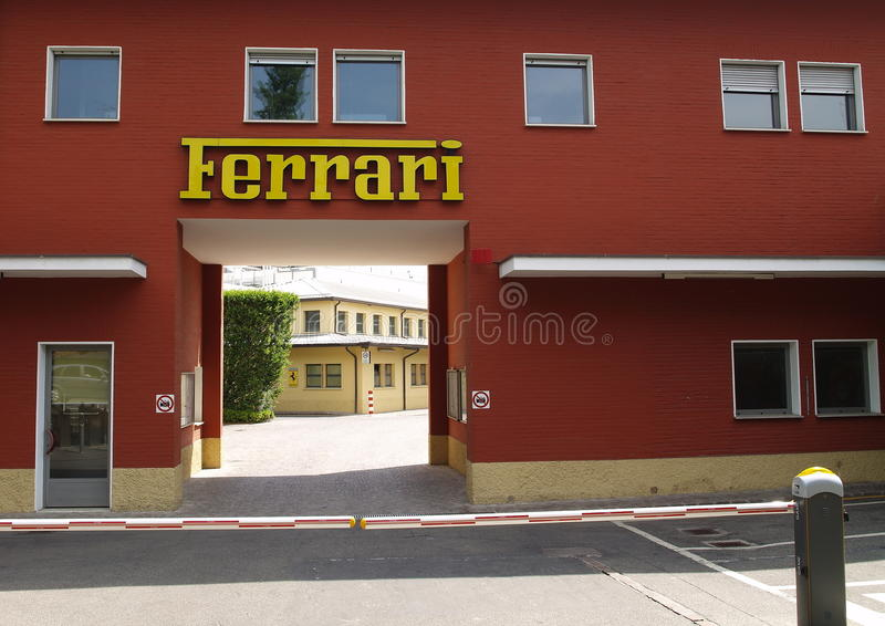 Autofabriek Ferrari stock foto's