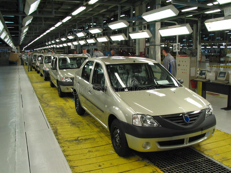 Autofabrik stockfoto
