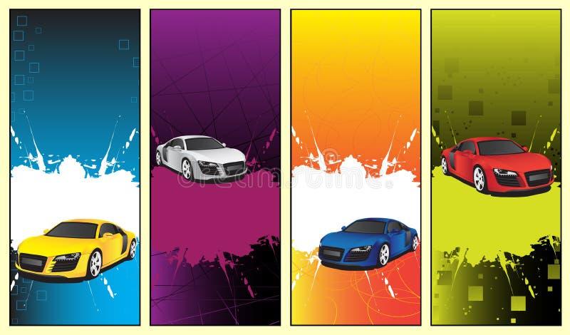 Autofahnen stock abbildung