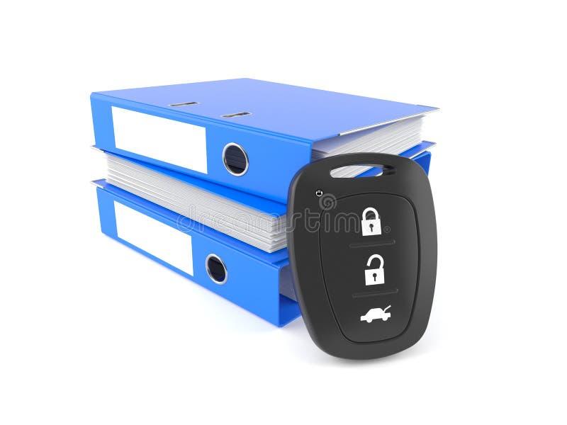 Autofernschlüssel mit Ringmappen stock abbildung