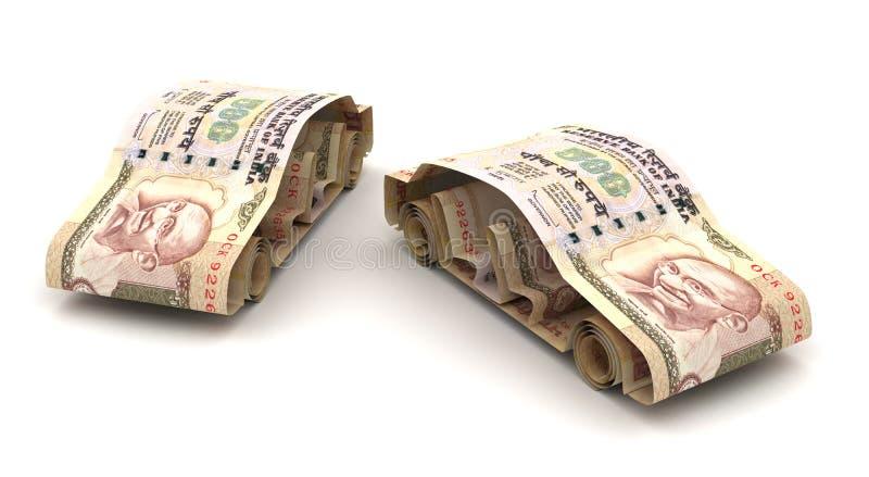 Autofinanci?n met Indische Roepie stock illustratie
