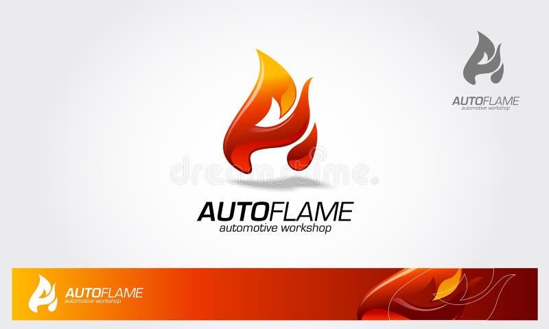 AutoFlame logo stock illustrationer