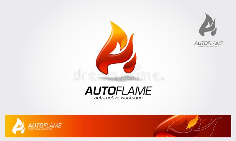 AutoFlame logo ilustracji