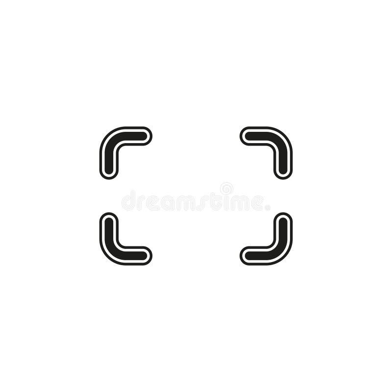 Autofocus icon - digital photo camera illustration, vector image concept. Flat pictogram - simple icon vector illustration