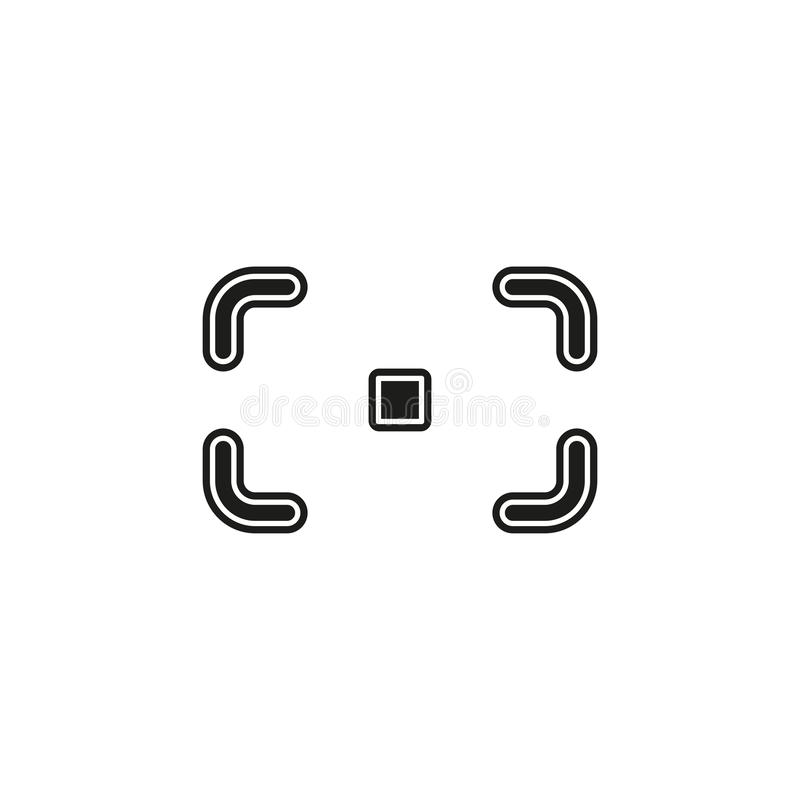 Autofocus icon - digital photo camera illustration, vector image concept dslr af. Flat pictogram - simple icon royalty free illustration