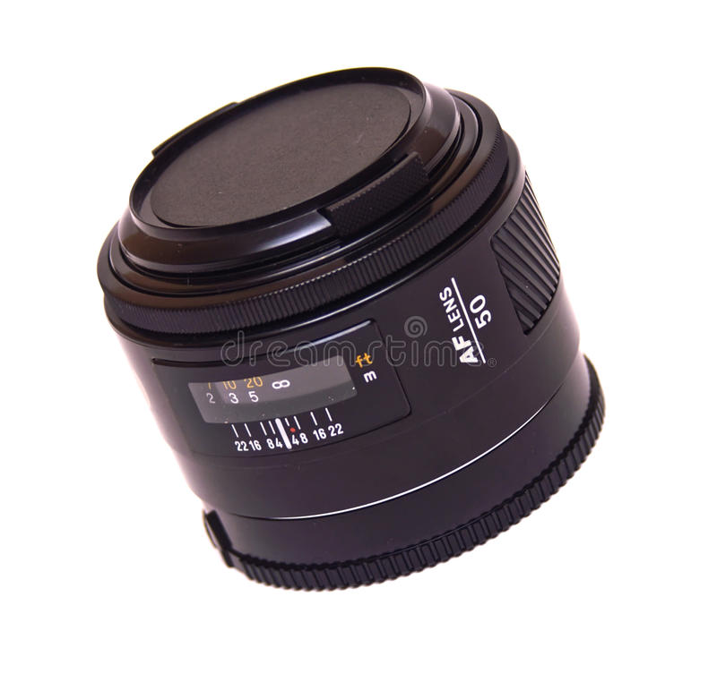 Autofocus Lens Isolated Royalty Free Stock Images
