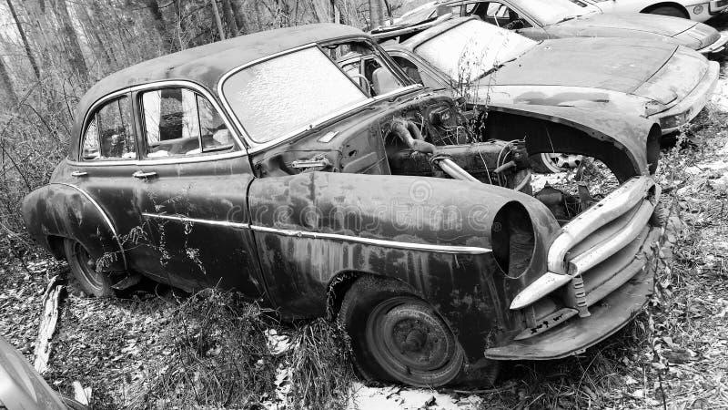 Autofriedhofauto stockfoto