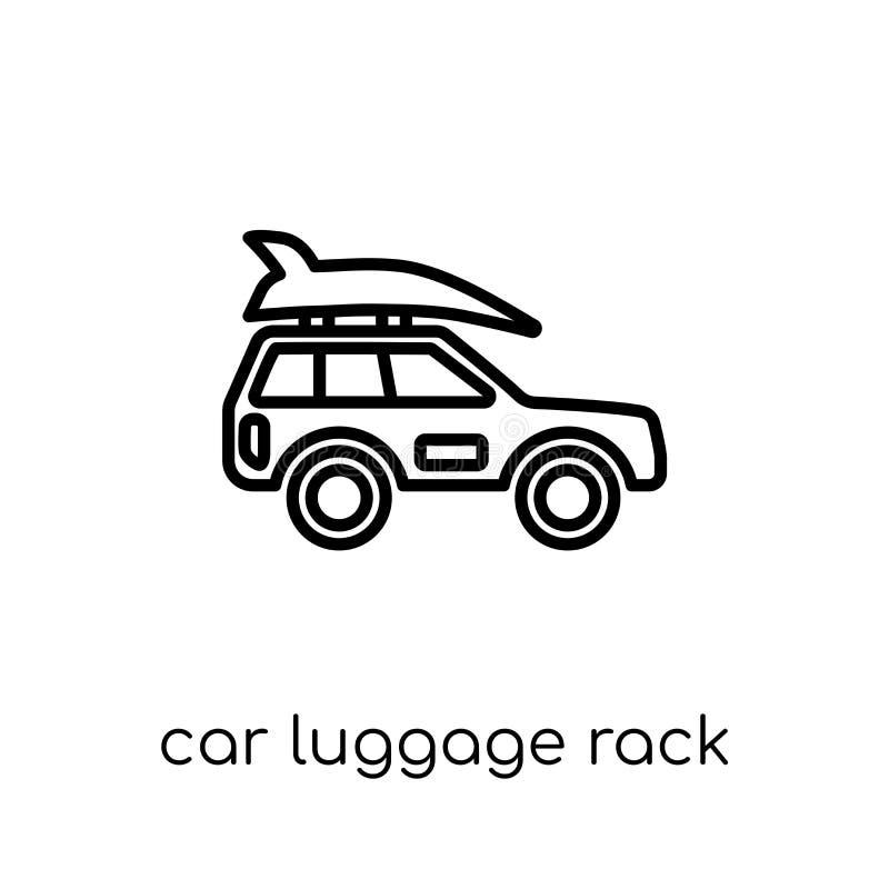 Autogepäckablageikone von der Autoteilsammlung stock abbildung