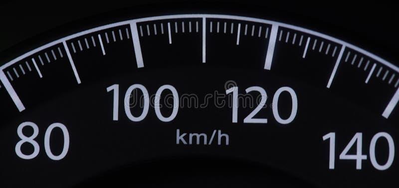 Autogeschwindigkeitsmesserabschlu? oben lizenzfreie stockbilder