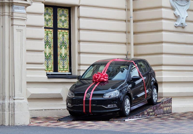 Autogift Volkswagen Polo royalty-vrije stock afbeeldingen