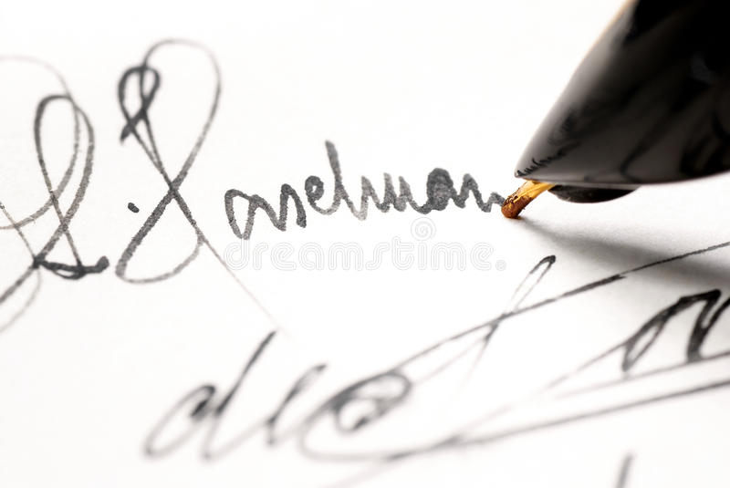 Download Autograph. stock image. Image of business, chartered - 17006911