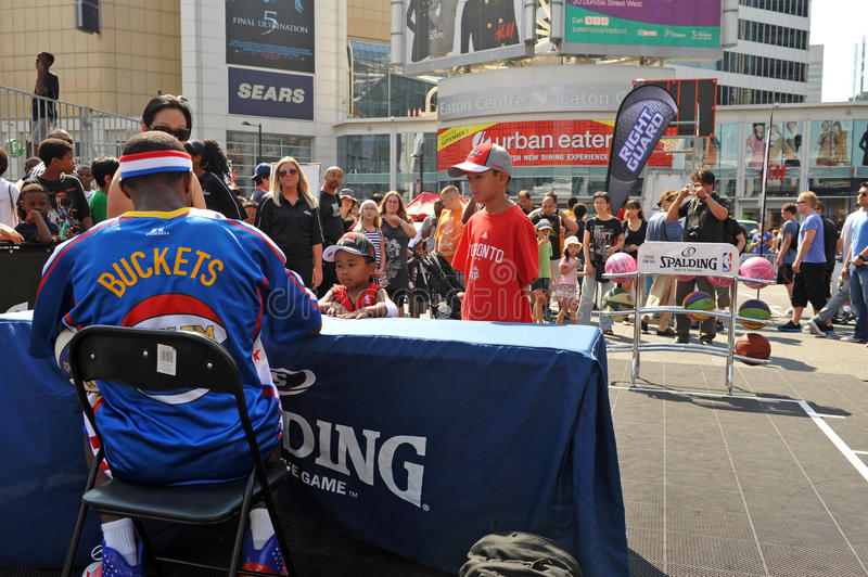 Autograph Line For Harlem Globetrotter Editorial Stock Photo