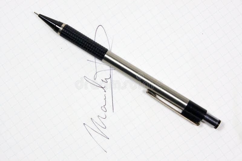 Download Autograph Pen Stock Image - Image: 11578311