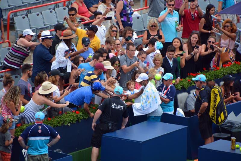 "Autographe de signe de Rafaël ""Rafa ""Nadal photo libre de droits"