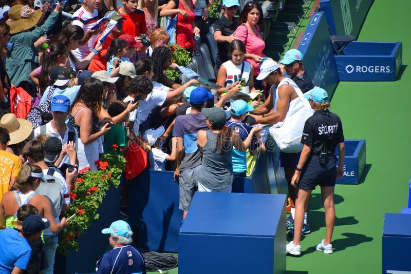 """Autographe de signe de Rafaël """"Rafa """"Nadal Parera pour des fans image libre de droits"""