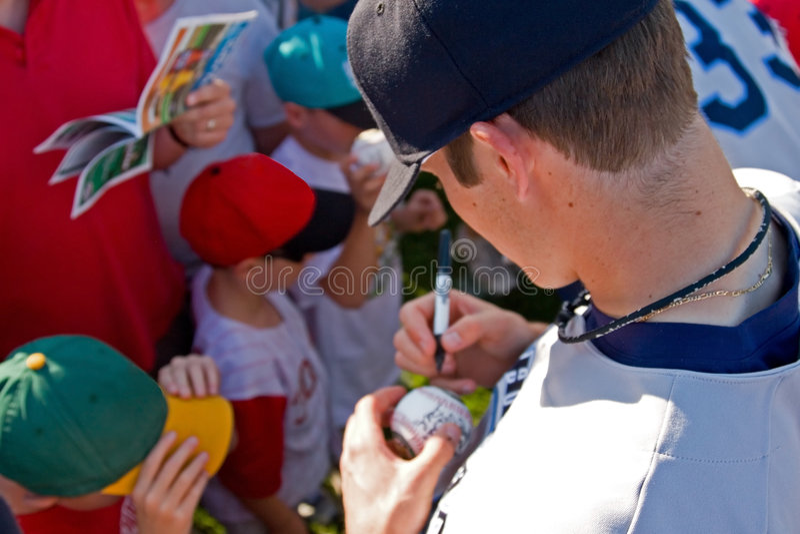 Autographes de signature image stock