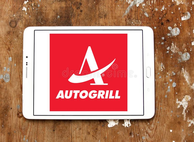 Autogrill catering company logo royalty free stock photography