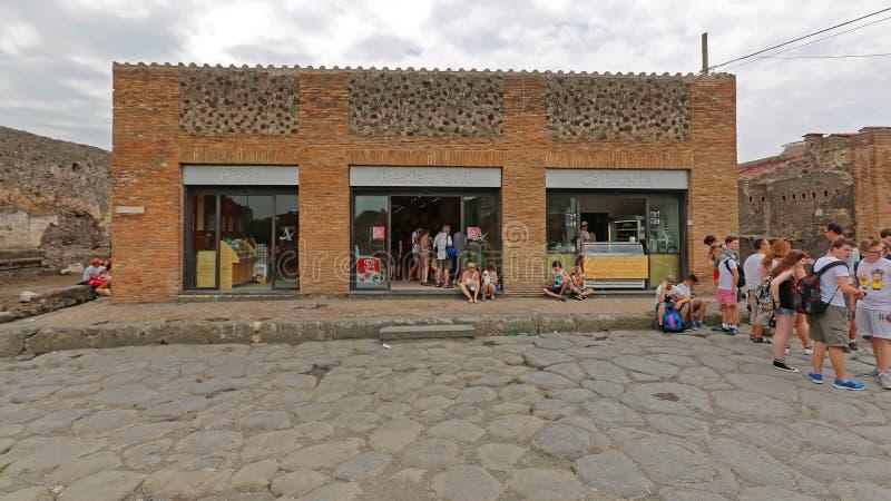 Autogrill Pompeji lizenzfreie stockbilder