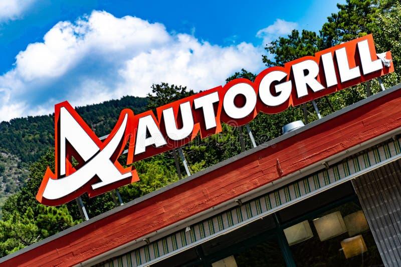 Autogrill-Schild lizenzfreies stockbild