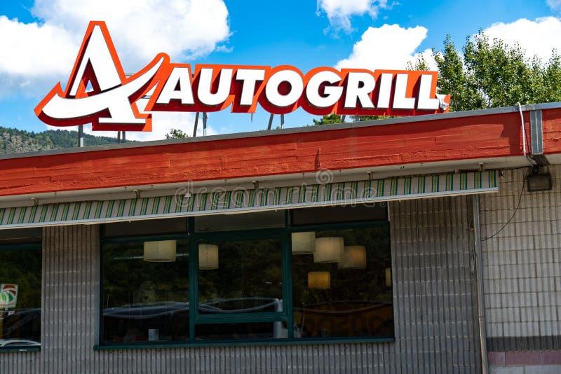 Autogrill-Schild stockfotos