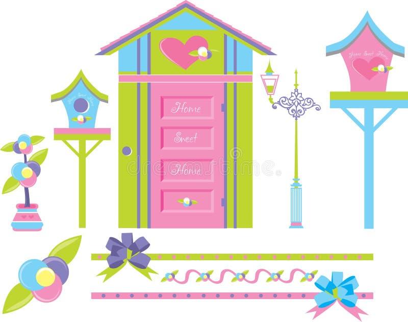 Autoguidez la maison douce illustration stock