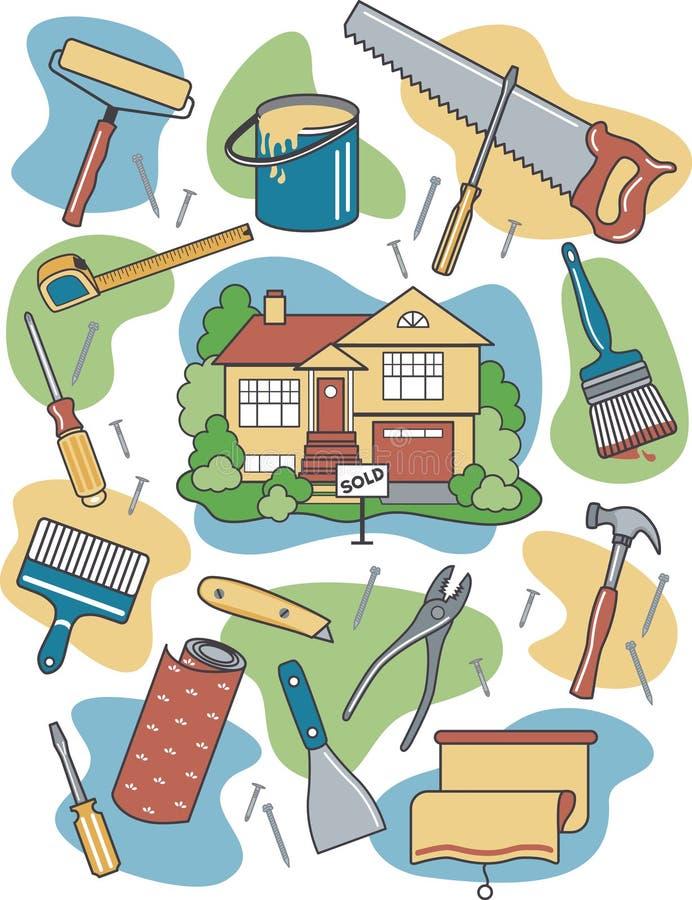 Autoguidez la rénovation illustration stock
