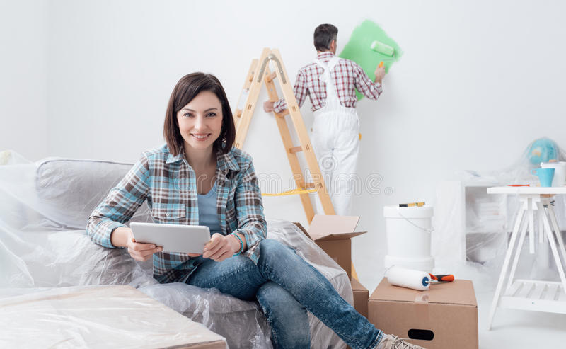 Autoguidez la rénovation photographie stock
