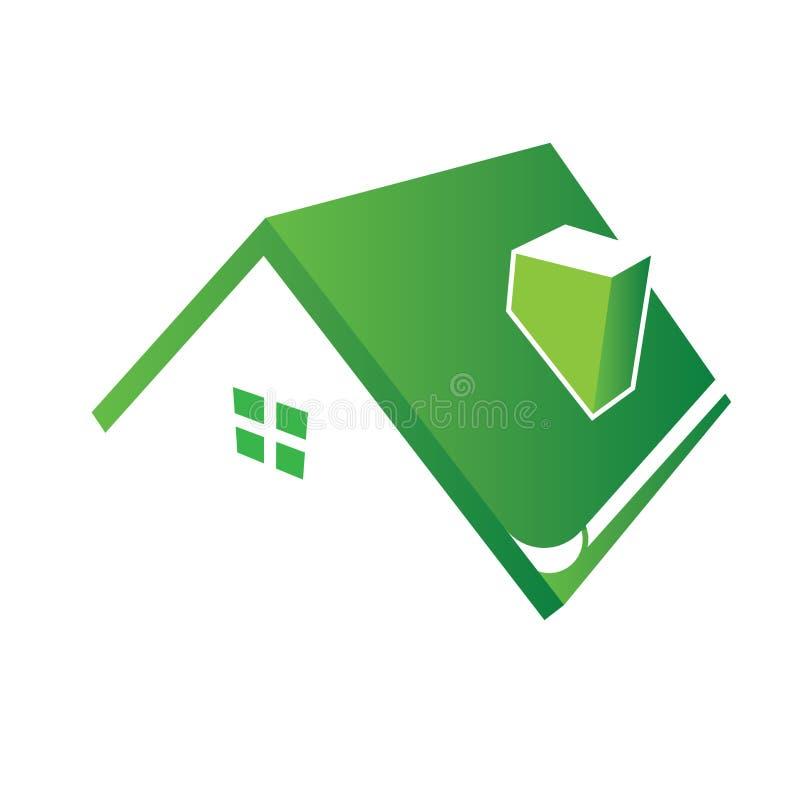 Autoguidez le logo de toit illustration libre de droits