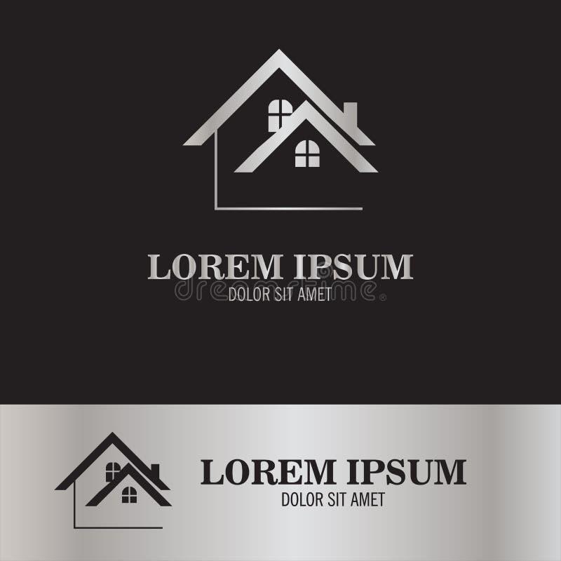 Autoguidez le logo de toit illustration de vecteur