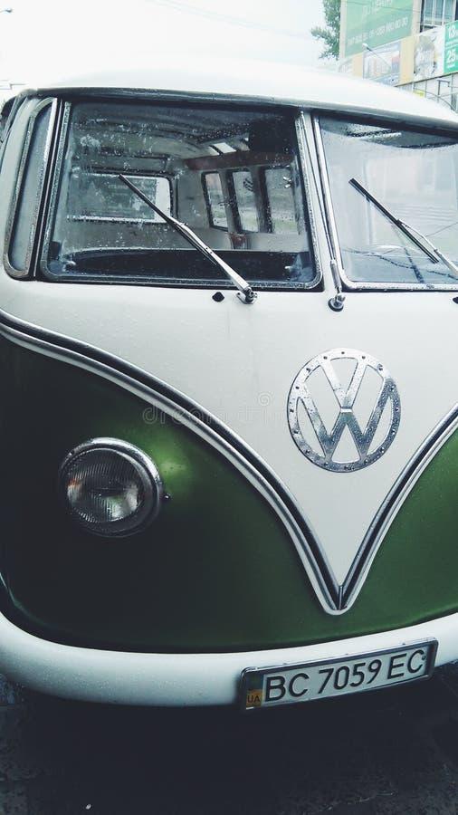 Autohippie, Volkswagen lizenzfreies stockbild