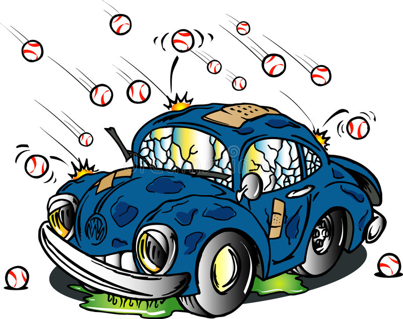 Autohit durch Hagel vektor abbildung