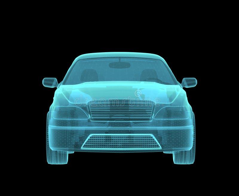 Autohologram Wireframe vector illustratie