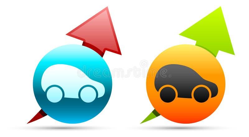 Autoikonen stock abbildung