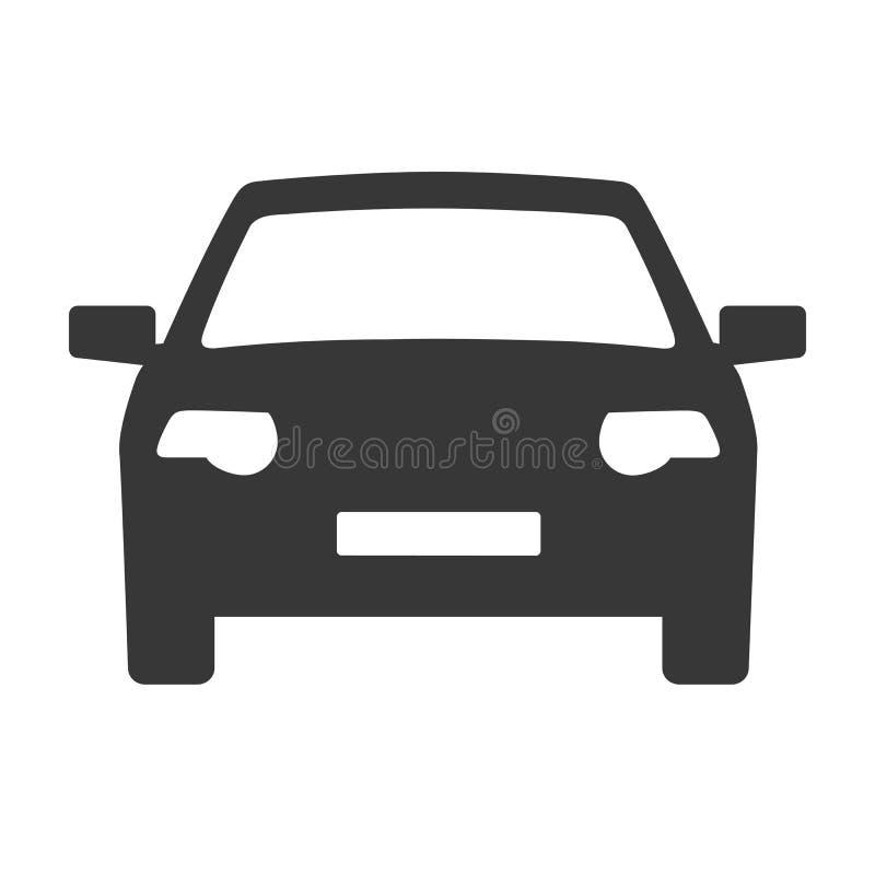 Autoikonenvektor-Illustrationskonzept lizenzfreie abbildung