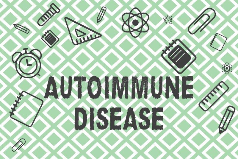 Autoimmune sjukdom för handskrifttext Ovanliga antikropper för begreppsbetydelse som uppsätta som mål deras egna kroppsilkespappe royaltyfri illustrationer