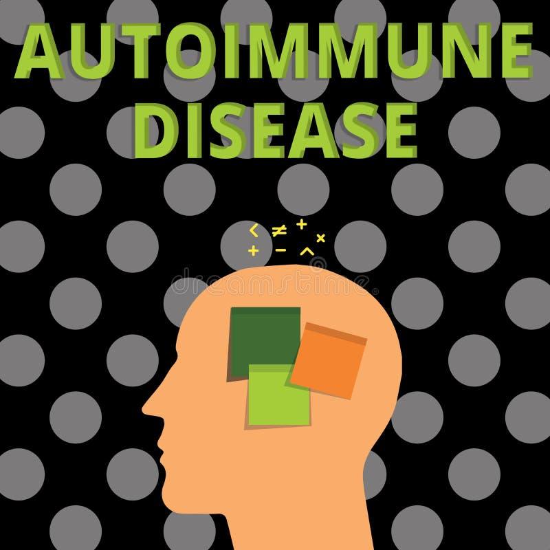 Autoimmune sjukdom för handskrifttext Ovanliga antikropper för begreppsbetydelse som uppsätta som mål deras egna kroppsilkespappe stock illustrationer