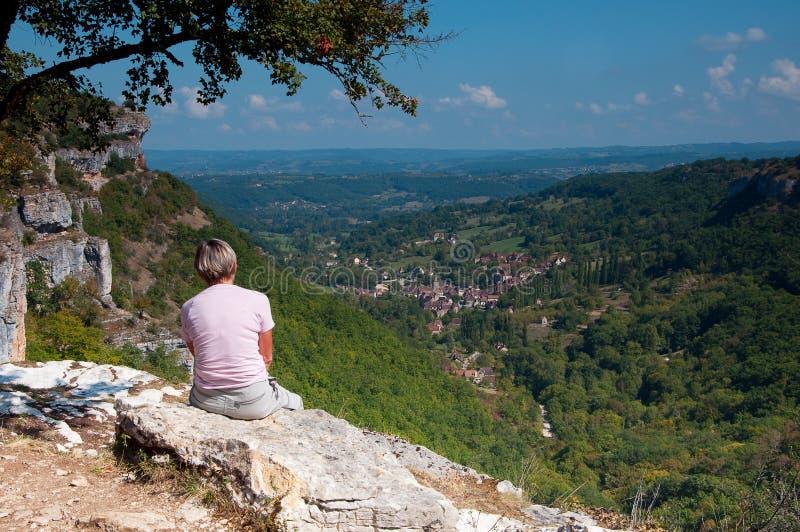 autoire francuza krajobrazu wioska obraz stock