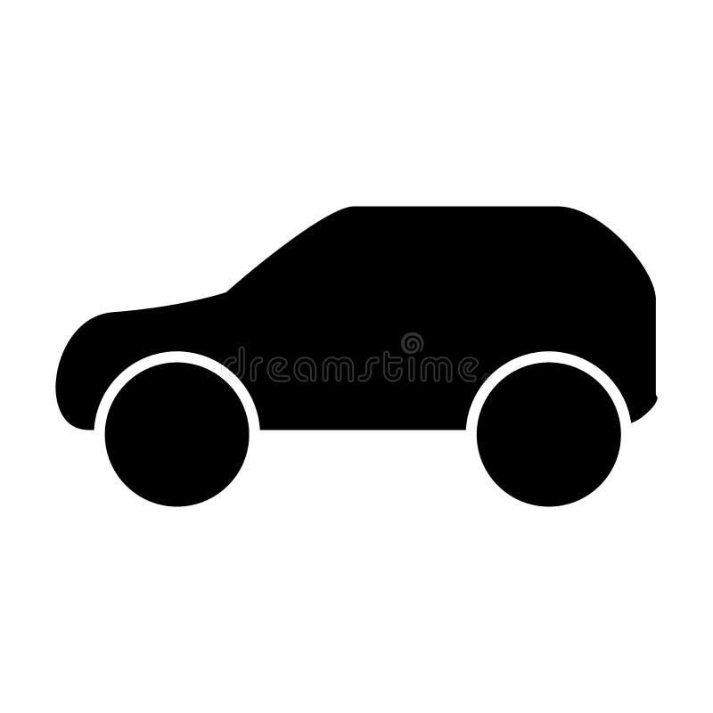 Autokörperikone Automobilvektorillustration lokalisiert auf Weiß Transport Glyph-Artdesign, bestimmt für Netz und APP lizenzfreie abbildung