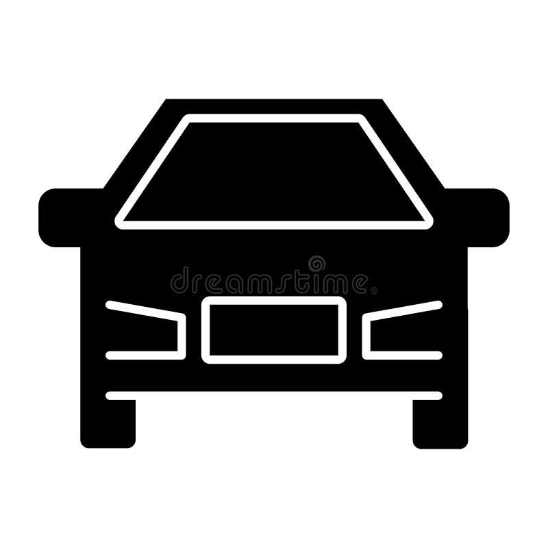 Autok?rperikone Fahrzeugillustration lokalisiert auf Wei? Transport Glyph-Artdesign, bestimmt f?r Netz und APP ENV 10 stock abbildung