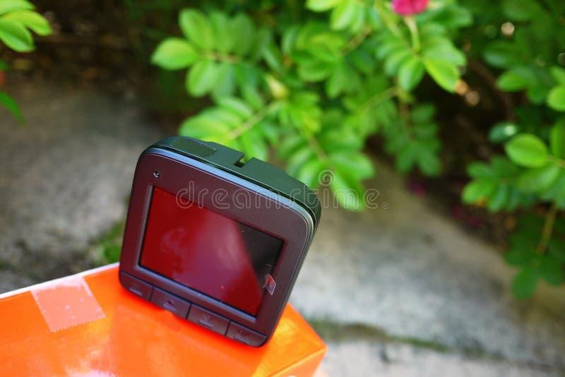 Autokamerarecorderanzeige Videorecorder, zum der Verkehrssituation beim Fahren Ihres Autos zu notieren lizenzfreie stockbilder